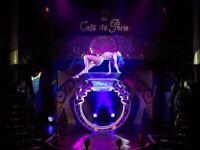 Two tickets for CAFE DE PARIS a Cabaret Show + dinner and cocktail