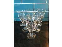 Set 6 Glass Goblets
