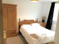 Double bed and mattress solid pine