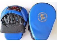 Furiousfistsuk Genuine Leather Focus Jabbing Pads Blue color