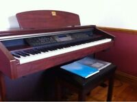 Yamaha Clavinova CVP206 with 88 keys and free stool