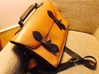 Pure leather satchel