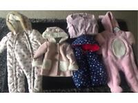 Winter baby girls bundle