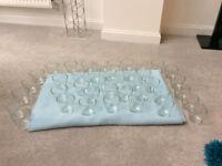 40 glass tealight holders
