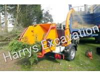 Wood chipper shredder Woodchipper Hire with OPERATOR