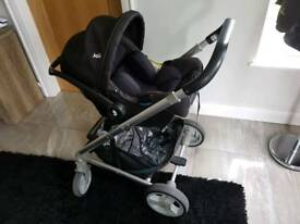 Joie travel system pushchair and carry cot