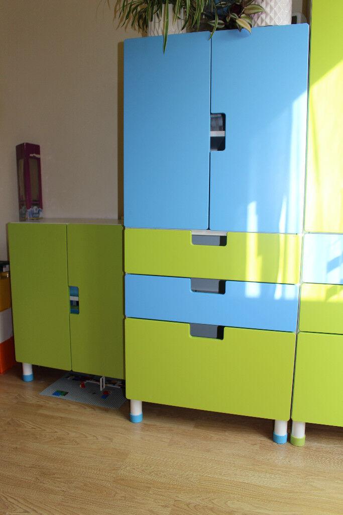 ikea stuva wardrobe children storage blue and green in northern moor manchester gumtree. Black Bedroom Furniture Sets. Home Design Ideas