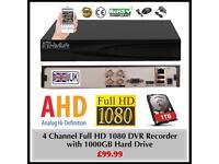4 Channel Full HD DVR Recorder 1TB HDD