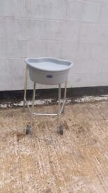 ZIMMER wheeled walking frame with caddy and tray