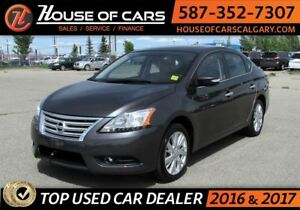2015 Nissan Sentra 1.8 SL / Navi / Leather/ Sunroof / Back up Ca