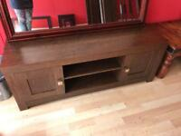 Tv unit dark wood effect