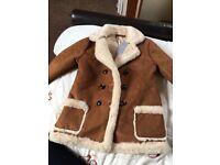 Girls suede jacket 3/4