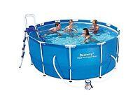 "Bestway 12ft x 48"" Frame Swimming Pool + Pump + Ladder Brand New £200"