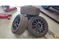 "Team Dynamics Pro Race 1.2 17"" With Tyres - Mk4 Golf fitment"
