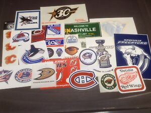 Autocollants stickers hockey baseball clubs sports cartes