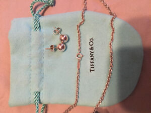 """Authentic Tiffany & Co. 23"""" S.S. necklace"""