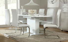 Brand New Osaka High Gloss White Dining Table
