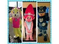 SIANS MASCOTS - Iggle Piggle,Peppa Pig,Minion, Chase, Rubble, Poppy,Cat Boy, Mickey & Minnie,Olaf