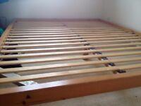 Wooden bed base