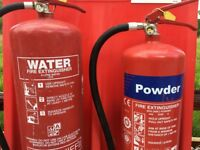 Fire Extinguishers 4 pairs of Water / Powder 8 in total with floor mounts