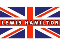 LEWIS HAMILTON LARGE UNION JACK FLAG/BANNER 3ft x 5ft