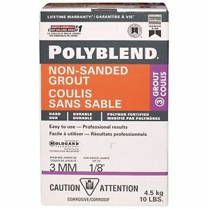 Partial Box of Polyblend Non-sanded Grout