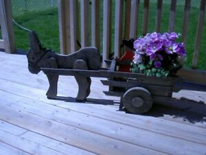 Wooden horse and carriage