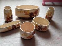 Sylvac Ceramics selection of 7 vases