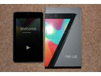 Asus Nexus 7 tablet, Lollipop Android 5, boxed hardly used as new 32GB version
