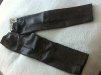 GENTS RAWHIDE LEATHER TROUSERS -waist 30, leg 32ins