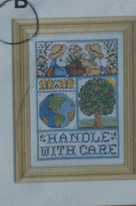 Handle with Care- counted cross stitch