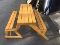 Two in One Convertible Garden Bench and Picnic Table