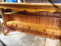 Pine dresser, Top only Extra long