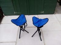 Folding tripod camping / fishing stool £6 for the pair