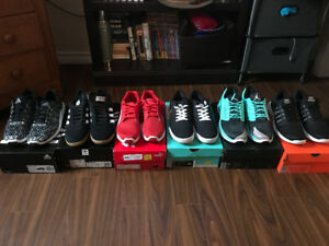 6 pairs of shoes for sale all for 350$