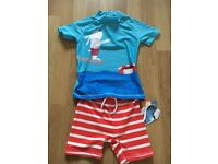 Next 2piece Sun Protection Suit.Age 3-4yrs.New