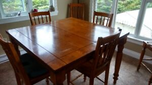 Dining Room Table and Chairs (Pub Style)