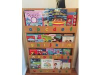 Children's bookcase with books included