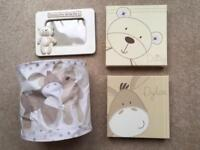 Next Baby Bedroom Light Shade, Canvas Wall Pictures & Photo Frame Matching
