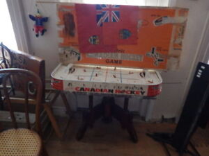 ANTIQUE HOCKEY TABLE TOP GAME SOLD BY AUCTION