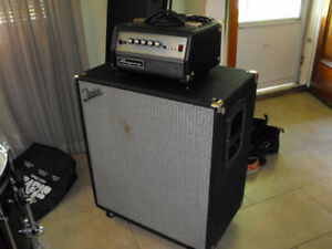 Ampeg Micro-VR Bass Amp Head and Fender Rumble 410 bass Cab