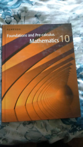 Foundations and Pre-calculus mathematics 10 HARDCOVER