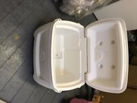 2x White cool boxes for sale