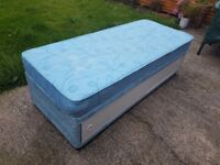 Small single divan bed