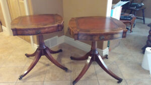 Antique matching mahogany side tables
