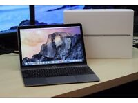 "Core M3 Space Grey 12"" Retina Display Apple MacBook 1.1Ghz 8GB 256GB SSD Logic Pro Final Cut Adobe"