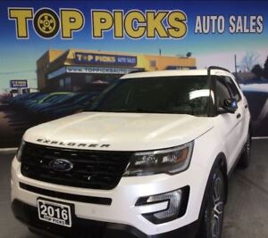 2016 Ford Explorer SPORT, LEATHER, NAVI, PAN SUNROOF, ONE OWNER!