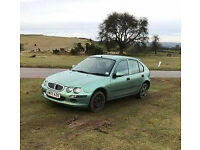 Rover 25, 2003 Green 80,000 n clock - new starter motor, needs fuel pump - great runner - £220ono