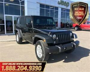 2015 Jeep WRANGLER UNLIMITED Sport| 4WD| 6 Speed Manual| AM/FM|
