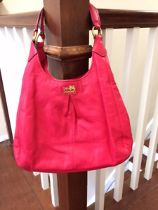 Pink leather coach purse for sale